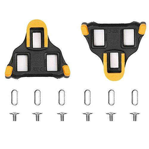 ColorGo Road Bike Cleats 6 Degree Float Self-locking Cycling Pedal Cleat For Shimano SH-11 SPD-SL Road Cleats Fit Most Road Cycling Shoes - Road Bike Cleats