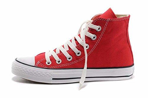 Rojo Mujeres de 34 34 Blanco Zapatos Unisex Rise Lona Estudiantes Low de Shoes los Azul Par Tamaño de Las Rojo Zapatos Tamaño Casual Color 39 Negro pwqIgC