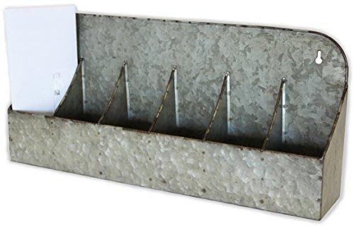 Metal Cubby Shelf, Galvanized Tin, 20 inches (Hanging, Sitting, Desktop Organizer, Divided Storage)   by Urban - Cubbies Desktop