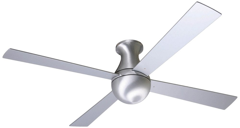 "52"" Modern Fan Aluminum Finish Ball Hugger Ceiling Fan Amazon"