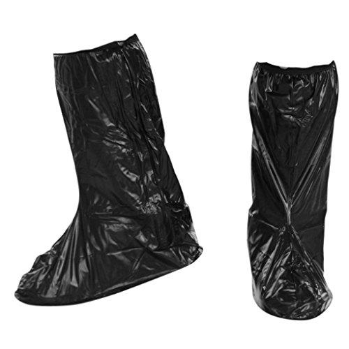 Impermeabile TOOGOO e piedini antiscivolo scarpe stivali da pioggia per coperture riflettente per moto bicicletta da equitazione Nero XXL