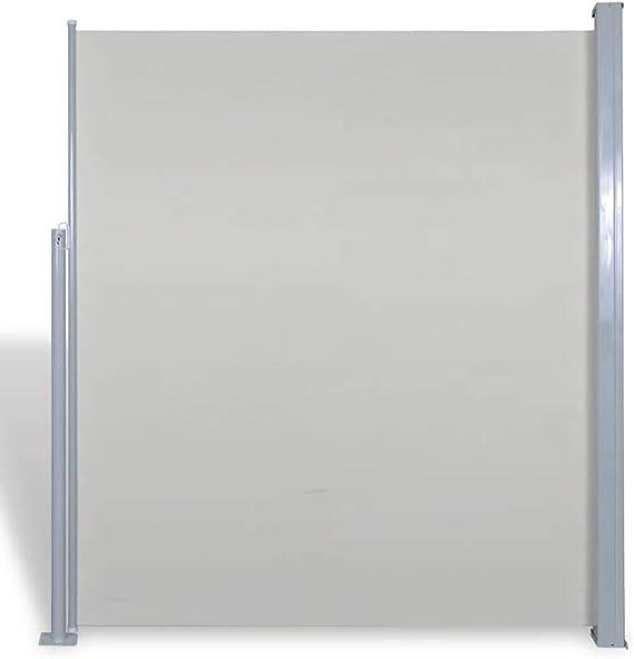 vidaXL Toldo Lateral Retráctil Poste de Acero Gris 180x300 cm ...
