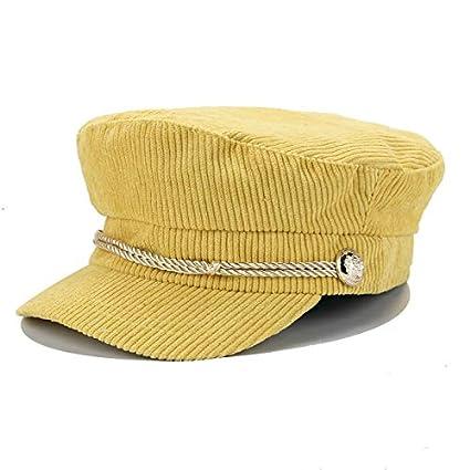 Amazon.com: Blue Stones Winter Hats for Women Winter Berets Cap Hat Female Button Baseball Cap Sun Visor Hat Gorras Casquette Black Fall baret England: ...