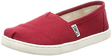 Toms Kids Classic Red Casual Shoe 1 Kids US