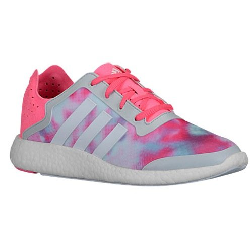 Adidas Women's Pure-Boost Reveal White/Pink/Gray Running Shoes B26503 size 8.5