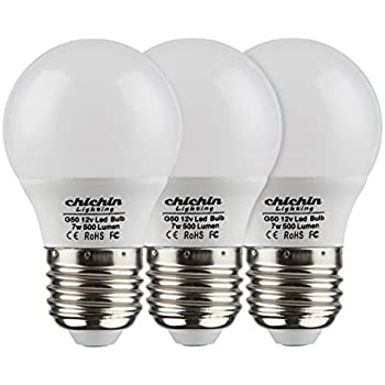 ChiChinLighting 12 Volt 7 Watt LED Light Bulb (3 Bulbs Per