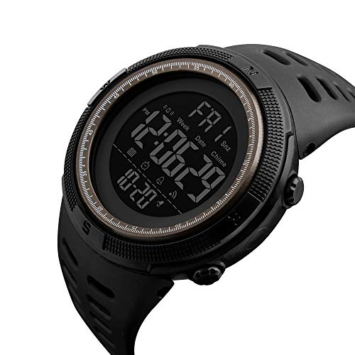 Amazon.com: Mens Digital Outdoor Sports Watch Waterproof Military Stopwatch Countdown Auto Date Alarm (SK 1251 Black Brown): Watches