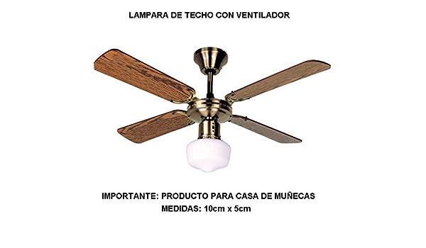 LAMPARA Techo con Ventilador: Amazon.es: Juguetes y juegos