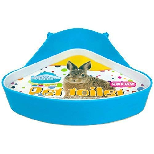 Plastic Pet Toilet, Small Animal Litter Tray Corner for Hamster Pig Rabbit Pee (Blue) - Lock N-litter Pan
