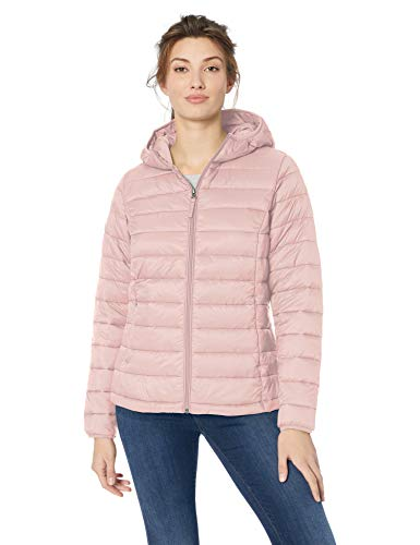Amazon Essentials Women's Lightweight Water-Resistant Packable Hooded Puffer Jacket, Light Pink, XX-Large