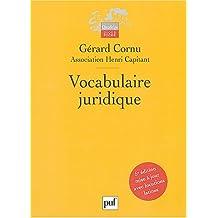 Vocabulaire juridique [ancienne édition]