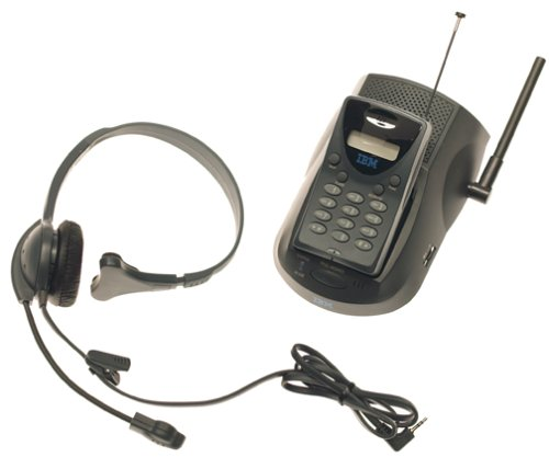 IBM 900 MHz Black Ultra-Compact Cordless Headset (Ibm Telephone)