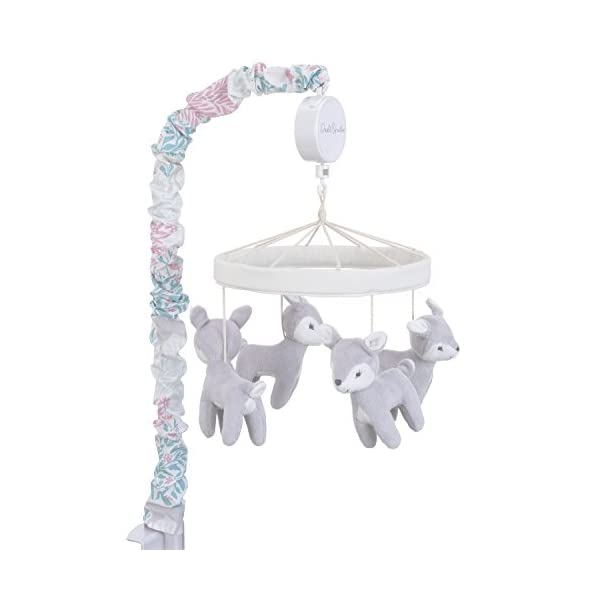 Dwell Studio Sweet Fawn Deer/Forest Musical Mobile, Lavender/Aqua/Gray/White