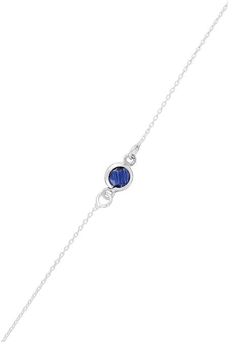 Córdoba Jewels | Pulsera en Plata de Ley 925 con Piedra semipreciosa con diseño Dolce Montana Silver: Amazon.es: Joyería