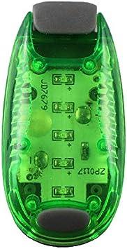 WOVELOT Multifonction V/élo LED Feu Arri/ère Nuit Courir en Plein Air Lumi/ère D/équitation Sac /à Dos L/éger Casque L/éger Vert