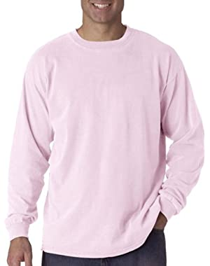 Ringspun Garment-Dyed Long-Sleeve T-Shirt (C6014)- BLOSSOM, XL