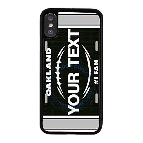 (BRGiftShop Customize Your Own Football Team Oakland Rubber Phone Case for Apple iPhone XR )