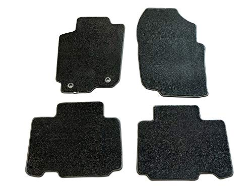CarsCover Custom Fit 2013-2018 Toyota RAV4 SUV Front and Rear Carpet Car Floor Mats Heavy Cushion Ultramax Asphalt Black ()
