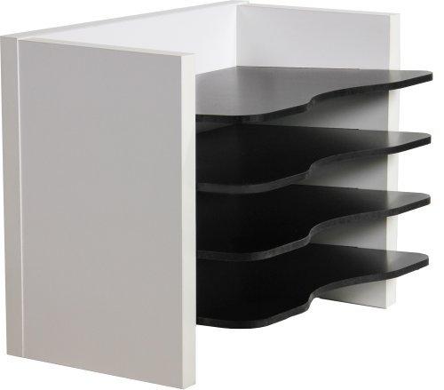 OFC Express Desk Organizer - Letter Size, Satin White