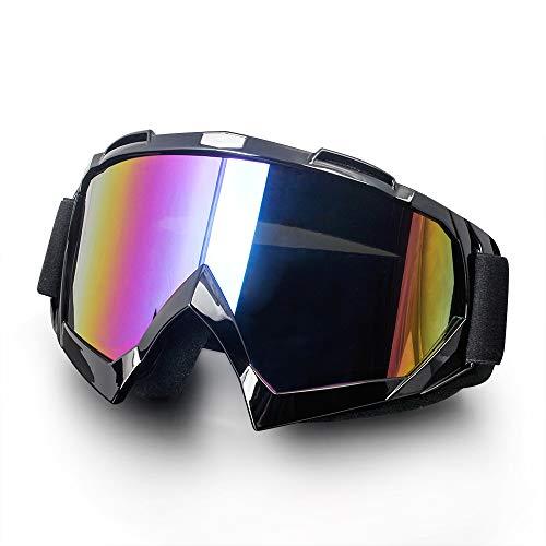 Surpassme Motorcycle Goggles UV Protection Ridding Glasses for Motocross Dirt Bike UTV/ATV Dustproof Windproof Sponge Padding Goggles Skiing Snow ()