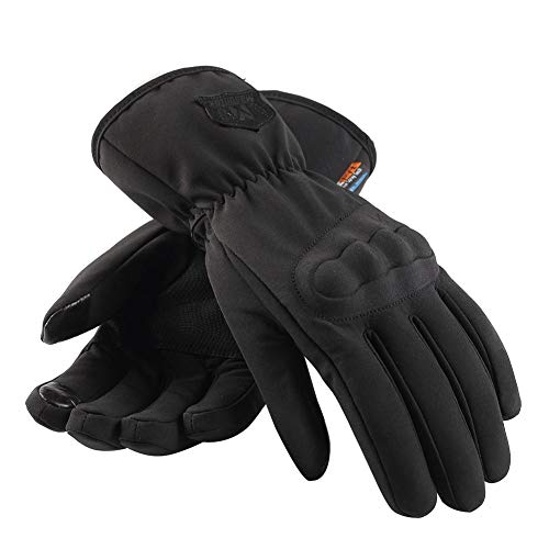 Heilsa Unisex Windproof Waterproof Warm Touch Recognition Full Finger Gloves for Mountain Bike Bicycle Cycling Off-Road/Dirt Bike Road Racing Motorcycle Motocross Sports