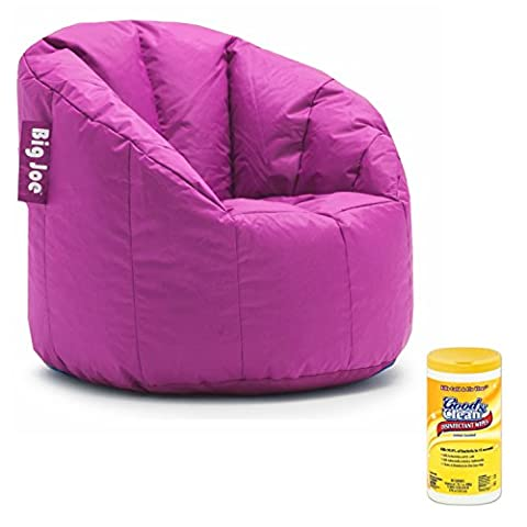 Big Joe Milano Soft, Comfortable, and Stain Resistant Bean Bag Chair for Adults with Surface Cleaning Disinfectant Wipes (Packers Rocking Chair)