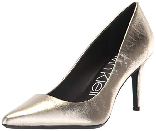(Calvin Klein Women's Gayle Pump, Soft Gold, 7.5 Medium US)