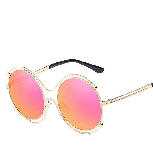 Redondo Marco Metal Gafas Sol Gafas Sol Gafas creativos de de Dama Marco de Axiba Gafas de Regalos Color Tendencia Hombre H Retro Cine xFvwFgfz