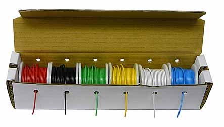 Hook up Wire Kit (Stranded Wire Kit) 22 Guage (6 different colored 25 Foot spools included) - EX ELECTRONIX EXPRESS by Electronix Express