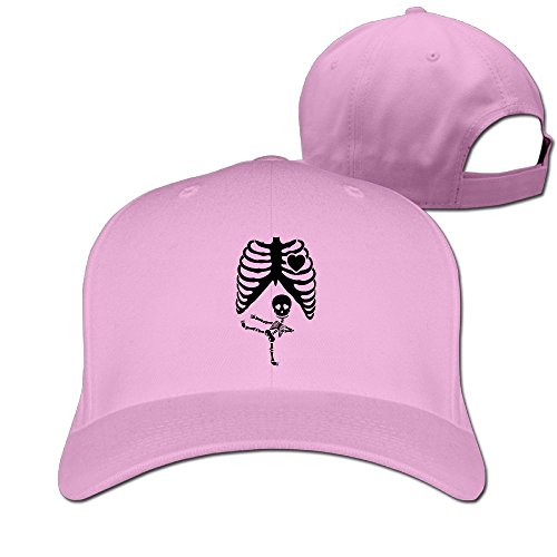 [Halloween Pregnant Skeleton Ninja Unisex Casual Trucker Hat & Cap Pink] (Halo Halloween Costumes Elite)