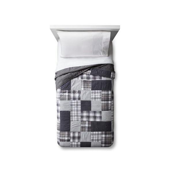 New-Hand-Stitched-Patchwork-Plaid-Quilt