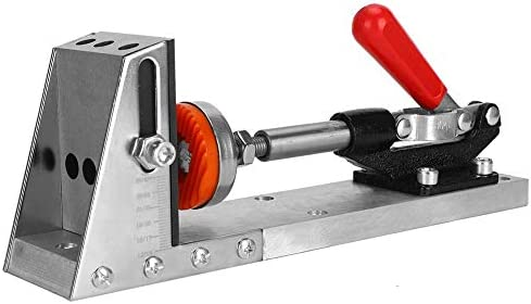 Nitrip Woodworking Inclined Pocket Hole Drilling Guide Clamp with Accessories Carpenter's Tool