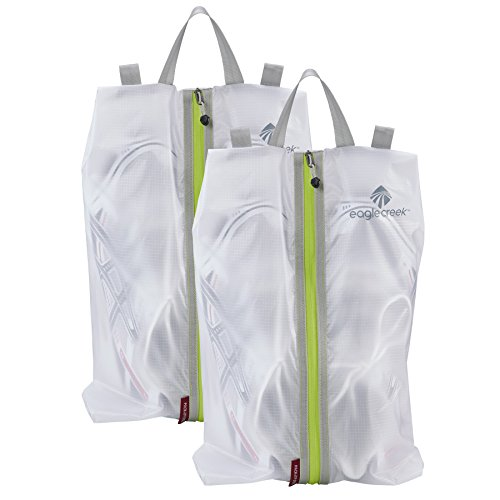 - Eagle Creek Pack-it Specter Shoe Sac ,White/Strobe,Pack of 2,One size