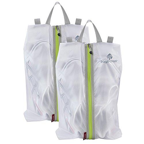 41M8Zf3C10L - Eagle Creek Pack-It Specter Shoe Sac Set, White/Strobe, Set of 2