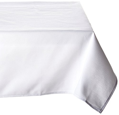 LinenTablecloth 52-Inch Square Ambassador Tablecloth White