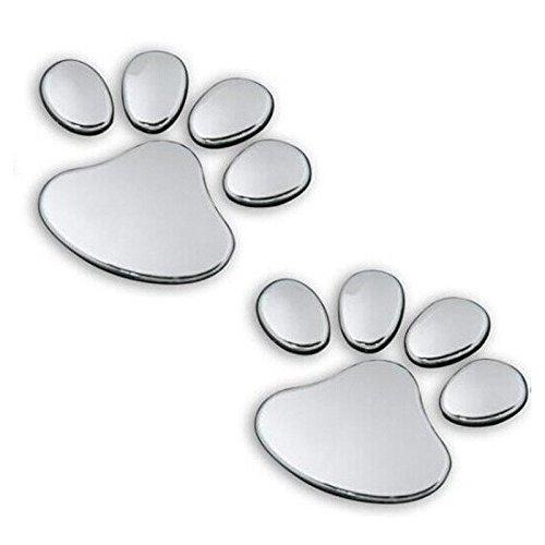 - Veepola 2PCS Pet Animal Paw Footprints Emblem Car Truck Decor 3D Sticker Decal