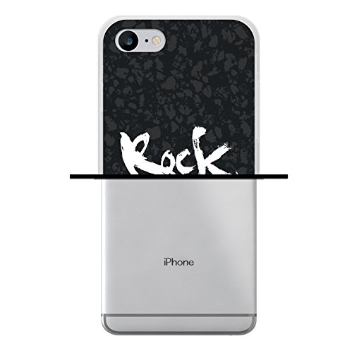 iPhone 8 Hülle, WoowCase Handyhülle Silikon für [ iPhone 8 ] Rock Star Handytasche Handy Cover Case Schutzhülle Flexible TPU - Transparent