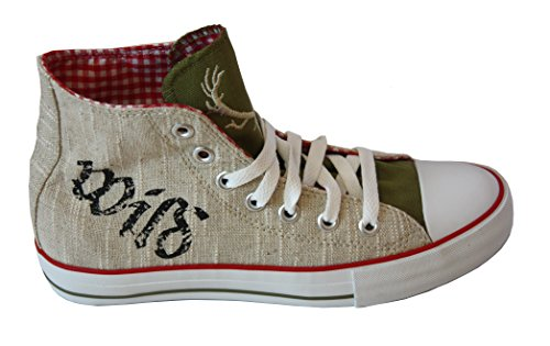 Sneaker für Damen und Herren rot kariert Gr. 38-48 Krüger (47, rot)