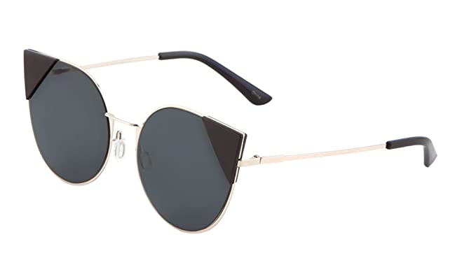 41bbec1304 Womens Floral Aviator Sunglasses Flower Arms Fashion Eyewear (Gold Black