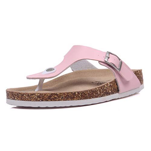 Beach Cork Flip Flops Slippers Casual Summer Women Mixed Color Print Slip Slides Shoe Plus Size Pink 11 (Best Massage In Riyadh)