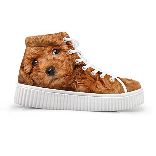 HUGS IDEA Cute Animal Printing Platform Shoes Fashion Sneakers Dog2