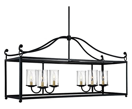 6 - Light Island (Table Iron Forged Chandelier Antique)