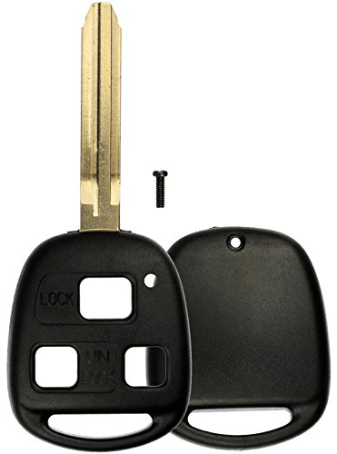 KeylessOption Just the Case Keyless Entry Remote Head Key Combo Fob (Toyota Land Cruiser Replacement)