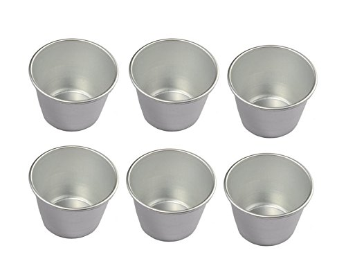 Good news Set of 6 Nonstick Individual Tumblers Popovers| Chocolate Molten Pans| Pudding Cups| Raspberry Souffle Pot| Darioles Ramekins Brownies Mold