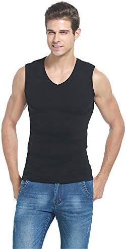 タンクトップ メンズ メンズベストコットンラウンドネックストレッチTシャツノースリーブ通気性のベストアダルトユースクール 夏 スポーツ フィットネス (色 : C2, Size : XL)
