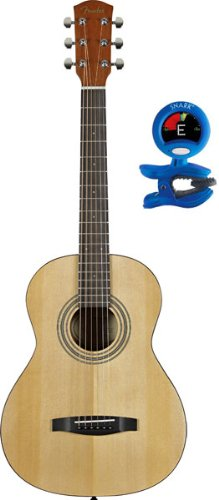 Fender MA-1 3/4 Size Steel String Acoustic Guitar Package - Includes Digital Clip-on Tuner
