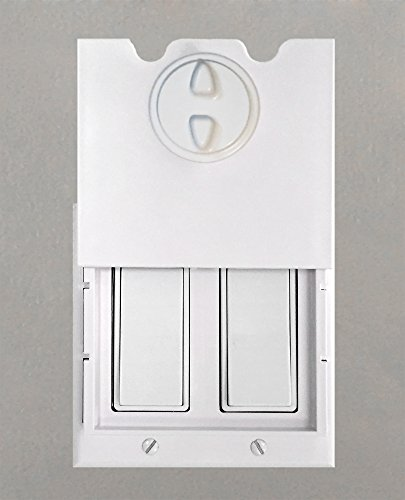 HomeStar Safety Light Switch Guard and Cover (for double rocker switches)