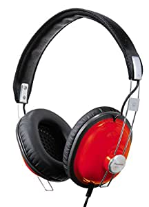 Panasonic Retro Best in Class Over-the-Ear Stereo Monitor Headphones RP-HTX7-R1 (Red) Dynamic Accurate Sound, Lightweight and Comfortable, iPhone, Android Compatible, Noise Isolating Headphones