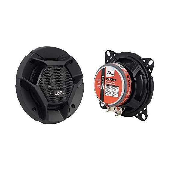 JXL 1090 High Performance 3 Way 4 Inch Coaxial Car Speaker with Inbuilt PEI Car Tweeter and HOP Woofer 500W MAX Pair
