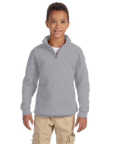 Jerzees Youth 8 oz., 50/50 NuBlend Quarter-Zip Cadet Collar Sweatshirt (995Y)- OXFORD,S